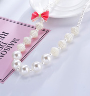 Wholesaling new children necklaces creative children jewelry bracelets lovely sweet fashion children pearl necklaces