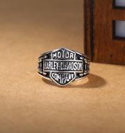 Bronze carved vintage ring