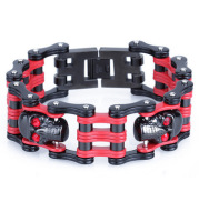 Europe and the United States men's domineering skull titanium steel bracelet manufacturers selling diamondwide stainless steel bicycle chain.