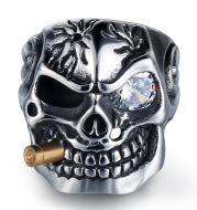 Skull Steel Ring Personalized Punk Men's Ring Jewelry