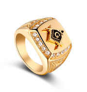 Alloy explosion gold ring