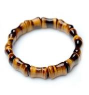 Natural Tiger Eye Stone Bamboo Hand Row
