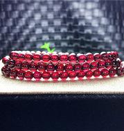 Natural multi-circle garnet bracelet