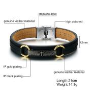 Bible verse leather bracelet