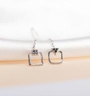 Long earrings with diamond earrings