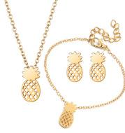 Hollow Pineapple Stud Earrings Set