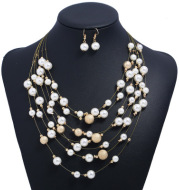 Frosted metal pearl set