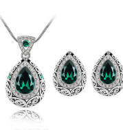 Austria crystal guard water droplet Necklace