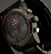 Waterproof Electronic Watch, Sports Men's Watch, Steel Band Men's Watch