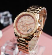 Vintage three-eye quartz watch