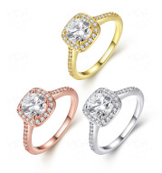 Rose Gold Ring Women European And American Fashion Zircon And Diamond Jewelry