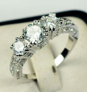 European and American ring engagement ring inlaid zircon ring jewelry