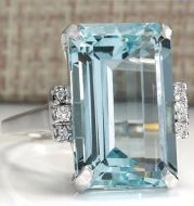 Hot European and American fashion luxury topaz engagement ring sapphire ring hand jewelry
