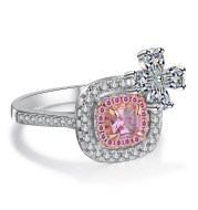Diamond Ring Simulation Diamond Ring Butterfly Micro-Marriage engagement Zirconium Diamond Ring Jewelry Platinum Rose Gold