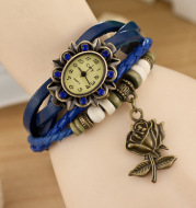 Bracelet retro rose watch