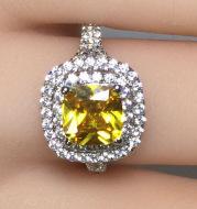 High carbon alloy ring wedding engagement 2 Carat Diamond luxury Nvjie micro ring Nvjie SONA fillet