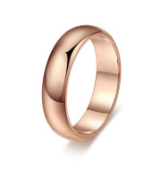High end hot selling jewelry classic brief couple for the wholesale custom ring of high grade rose gold engagement ring