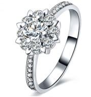 Micro / carat engagement and wedding ring ring female proposal ring 18K gold diamond ring zircon bare diamond