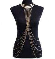 Personalized tassel body chain