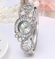 Four-leaf clover diamond bracelet watch