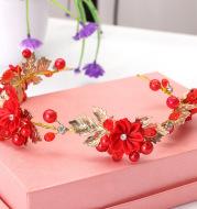 2021 new small red hoop Ling Tong Korean aesthetic headband bride wedding wedding jewelry hair headdress