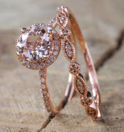 18k rose gold ring in Europe and America