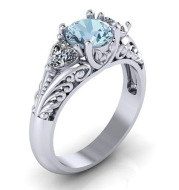 Diamond ring wish hot selling jewelry new European and American sapphire engagement ring creative couple ring