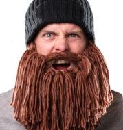 Winter hand-crocheted men's funny beard knitted hat