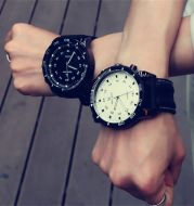 Large Dial Watch Men and Women Couple Leisure Sports watch