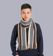 Imitated cashmere color matching casual men's thick scarf