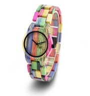 Bamboo wood color dynamic wooden watch