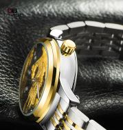 Detective Tevise automatic table watch watch men burst Jinlong waterproof luminous lovers mechanical watch