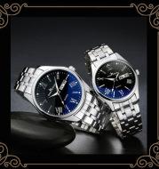Steel belt men's waterproof watch