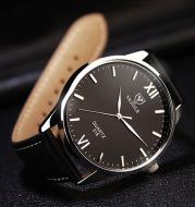 Waterproof business soft belt quartz watch