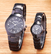 The mcykcy brand watches a couple of tungsten steel watch lady watches Mens Watch male female