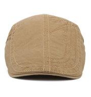 Cotton solid color alphabet cap