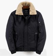Lamb fur lapel jacket