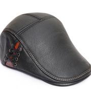 Men's leather cap