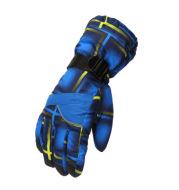 Waterproof gloves snowman play snow ski equipment