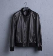 Leather Leather Men's Short Sheepskin Motorcycle Leather Jacket Baseball Uniform Jacket