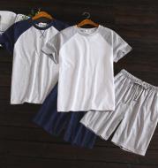Men's summer short sleeve shorts home set