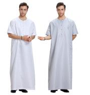 Short Sleeve Solid Men's Robe