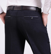Middle-aged men's ironless casual trousers