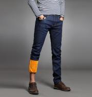 Men's winter velvet jeans