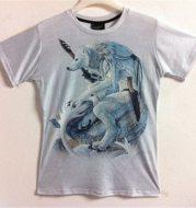 Patterned 3D short-sleeved t-shirt men