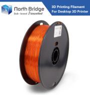 PLA 1.75mm/ transparent orange 3D Printer Consumables / rapid prototyping consumables /Makerbot consumables