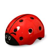 Kids Riding Bicycle Safety Helmet Adjustable Lovely Ladybug Riding Helmet.