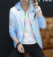 Summer youth outdoor sunscreen clothes all-match men's jacket men's casual fashion thin Jacket Mens.