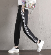 High Quality Elastic Spring And Autumn Sweatpants Female Leisure Pants Pants Size. Three Bars Of Hip Hop
