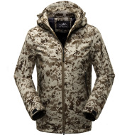 Outdoor leisure soft shell submachine garment men's sports jacket jacket jacket thin section camouflage tactical jacket tide